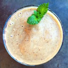 Gourmet #smoothie 372: Fig + Apricot + Plum. Supporting cast: cardamom, mint, basil, maple syrup, flax & chia seeds. Next time I would add lemon. The fruit mixture comes together in a frozen package from Woodstock Foods labeled high fiber. #organic #gourmetsmoothie #liquidbreakfast #healthy #breakfast #smoothiesavant #vitamix