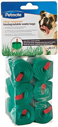 Petmate 71100 90 Count Clean Response Pets Waste Bag Refills, Green -- Find out more details @