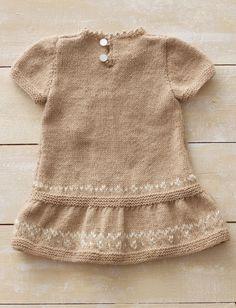 free pattern...Yarnspirations.com - Bernat Honey Bunny Dress - Patterns | Yarnspirations