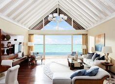 #villa #interior #stairway #beach #house #windows #expensive #luxury #bed #kitchen #home #ideas #sofa #architecture #exterior #bedroom #beauty
