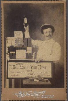 Carte-de-viste of a drug salesman, c.1900. SMU Central University Libraries.