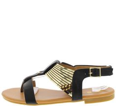 MAX1 BLACK GILL CAGE SANDAL