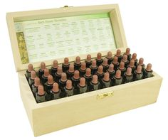 Completo set de 10ml Flores De Bach Remedios en a De madera Caja