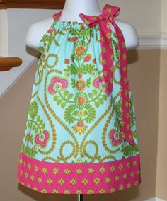 Items similar to Pillowcase dress girls dresses dress toddler Ooh la la aqua blue green hot pink Michael Miller 3 mos. Thru on Etsy Toddler Dress, Toddler Outfits, Baby Dress, Kids Outfits, Toddler Girls, Cute Dresses, Dresses For Sale, Dress Sale, Little Girl Dresses
