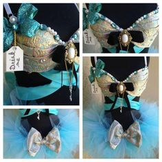Royal Alice rave bra and tutu. Electric Laundry.