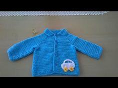 Chaquetita para niño: Como hacer una chaqueta para bebé en crochet o ganchillo - YouTube Crochet Blouse, Knit Crochet, Crochet Hats, Knitting Videos, Crochet Videos, Layette Pattern, Patron Crochet, Baby Layette, Crochet Baby Clothes