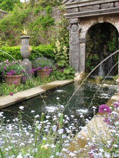 "yellowrose543: ""Beautiful garden with fountains "" #gardenfountainsrustic"
