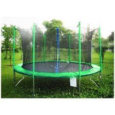 Trampolína 244 cm FIT-CENTER s bezpečnostní sítí zelená + DÁREK #trampolína #Athletic24 #trampolinyzahradni