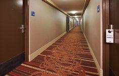 hallway to hotel rooms