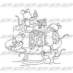Lotv Digi Stamp KG Gingerbread Mice Jpg Christmas | Etsy Line Art Images, Black And White Lines, Digi Stamps, Cardmaking, Gingerbread, Etsy Seller, Christmas Cards, Cross Stitch, Lily