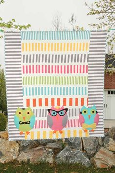 Hipster owls quilt!