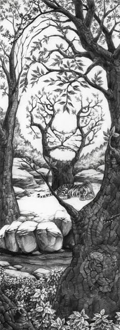 love this pic -  Nosrnir - Woooh - wwwooowww!!! nice art - Cool - Just like 3D ! I love it ;) - see it - Nice - me encanta - Awesome - This is so cool!!! - maravillosa - hello - Bonita imagen  - Gorgeous! - really super - Love it that's art !(: - Love tree  - love ths - Très original  - great picture really do like it. - lindo - beautiful - Amazing - Awesome...!!! - Cool - pretty - awesome - it was fun to color - Tiger  - great drawing! - Love it - beautiful  - Took me a little bit to see it…