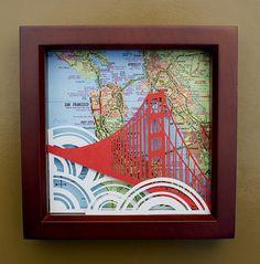 Golden Gate Bridge Paper Cutting