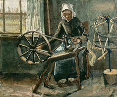 Vincent Van Gogh Woman At The Spinning Wheel oil painting reproductions for sale Vincent Van Gogh, Art Van, Van Gogh Prints, Van Gogh Pinturas, Van Gogh Paintings, Oil Painting Reproductions, Impressionist, Art History, Fine Art Prints