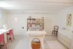 I could actually see in a sewing room like this.
