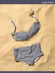 Jo de Mer Marilyn Vintage bikini in nautic print (via Vogue)
