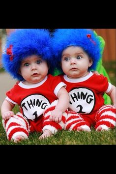 Thing 1 and Thing 2.   Soooooo cute!