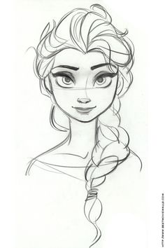 kioewen: Serene Elsa A lovely official Disney concept-art sketch by Jin Kim showing Elsa with a serene, lyrical expression. Source: Best Movie Walls [bestmoviewalls.com]