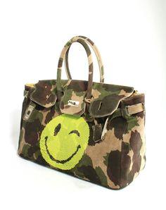 Borsa Skull Bag Camouflage Smile Yellow