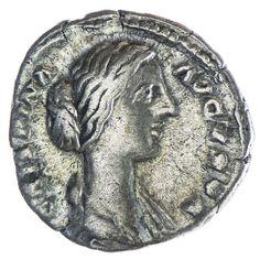 Crispina 179 - 191 Av: CRISPINA AVGVSTA drapierte Büste nach rechts, Rv: CERES, Ceres mit Ähren und Fackel Silber