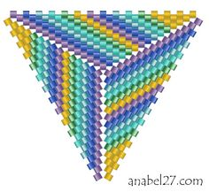 best ideas about Peyote triangle Triangle Pattern, Peyote Beading, Peyote Stitch Patterns, Weaving Patterns, Beaded Beads, Miyuki Beads, Free Beading Tutorials, Crystals, Necklaces