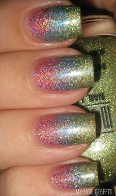 Right up my alley - Gradient Glitter!