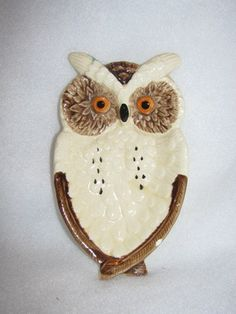 Vintage Owl Table Decoration, Hooters, Hoot, Owl, Retro Kitchenware Trinket Dish 41h