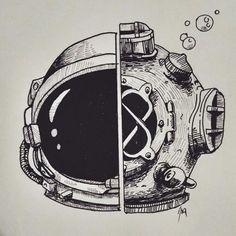 Half astronaut half diver