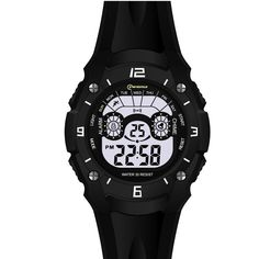 Alarm Sport Waterproof Digital Wrist Kids Boys Watches. Japanese quartz movement, high-grade material. Watch band length: 9.2 inches. Great gift for your children, convenient for life. Date, day, month, second, minute, hour displaying, alarm, chronograph function. Recommended age: from 3 to 10 years old.