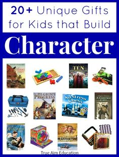Character Building Gift Guide for kids, with books, movies, toys and games that teach values and build character!