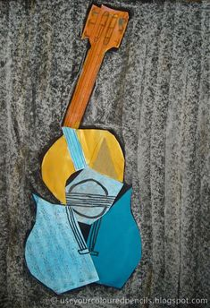 Recycled Collage inspired by Picasso from Use Your Coloured Pencils: famous artists Pablo Picasso, Picasso Cubism, Picasso Collage, Picasso Style, Guitar Art, Art Lessons Elementary, Coloured Pencils, Art Classroom, Classroom Ideas