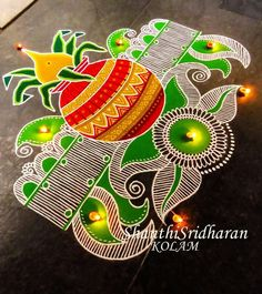 Rangoli Designs Simple Diwali, Best Rangoli Design, Free Hand Rangoli Design, Rangoli Border Designs, Small Rangoli Design, Rangoli Patterns, Rangoli Ideas, Rangoli Designs With Dots, Diwali Rangoli