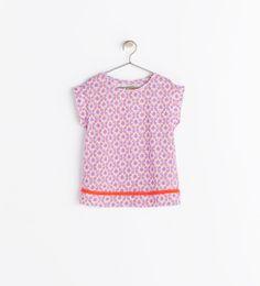 Image 2 of ETHNIC PRINT T-SHIRT from Zara