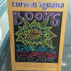 Bookstore chalkboard