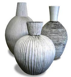 Ceramic vessels by South African artist Louise Gelderblom
