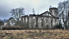 The ruins of the Evangelical church, Gostkow, Lower Silesia, Poland.