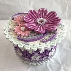 © chouchou_satomin- 3D Quilled boxes 1 (Searched by Châu Khang)