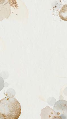 Download premium vector of Gold watercolor stain phone wallpaper vector