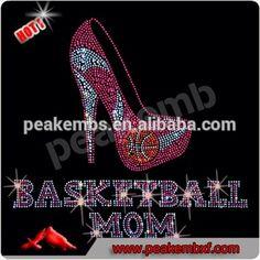 Customized Basketball Rhinestone Iron on Transfers Wear Fashion Super March Purchsing