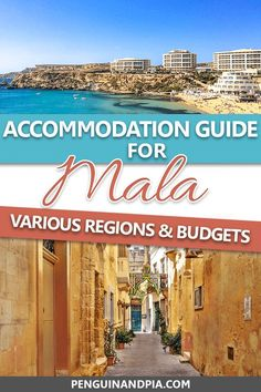 Are you planning a trip to Malta and have no idea where to stay? In this guide, we give you an overview of the different regions as well as some great Malta accommodation options for different travel styles and budgets! Top Europe Destinations, Best Beaches In Europe, Europe Travel Guide, Amazing Destinations, Budget Travel, Unique Hotels, Top Hotels, Malta Food