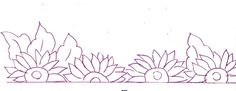desenho de flores country para pintar em tecido - Pesquisa Google