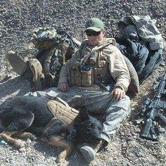 Military War K9 Hero & Handler! God Bless both of you!