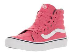 efa228ea402 Vans Unisex Sk8-Hi Slim Camellia Camellia Rose Pariisian Ni Skate Shoe 4.5  Men