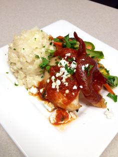 Tuscan Chicken with Asiago Risotto | Small Plates | Weddings www.twounique.com
