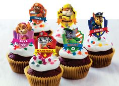 A personal favorite from my Etsy shop https://www.etsy.com/listing/260941768/paw-patrol-cupcake-toppers-24