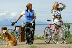 Ride or walk the Coastal Trail, which starts right in downtown Anchorage and cruises 12 miles along the coast of Cook Inlet. Walking Tour, Dog Walking, Kenai River, Alaska Travel, Alaska Trip, Excited Dog, Katmai National Park, Kenai Fjords, King Salmon