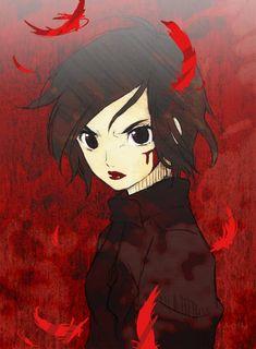 Tags: Anime, Feather, Blood+, Red Background, Otonashi Saya