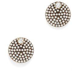 Auden Eclipse Crystal Button Earrings 9AMJx