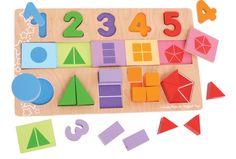 Vkládací puzzle - Čísla, barvy, tvary | Nomiland.cz - Obchod pro děti a materské školy