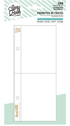 Lot de 10 Pochettes Plastiques 7.5x20cm - 2 Compartiments 7.5x10cm Kesi'Art